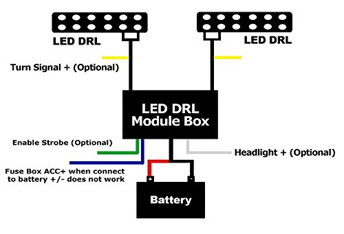 ijdmtoy  1  universal led daytime running light automatic on  off controller module box relay