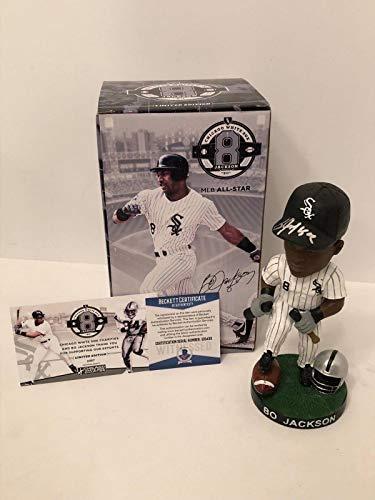 (Bo Jackson Signed Baseball/Football White Sox Bobblehead *Breaking Bats Beckett - Beckett Authentication)
