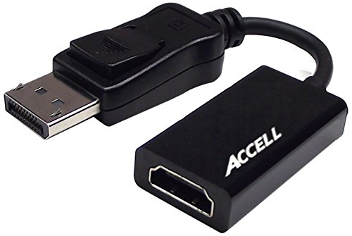 Accell DP to HDMI Adapter - DisplayPort 1.1 to HDMI 1.4 Active Adapter - AMD Eyefinity Certified, 4K UHD @30Hz, 1920X1080@120Hz - Polybag