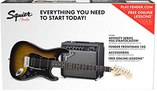 Squier by Fender Affinity HSS Stratocaster Beginner Electric Guitar Pack