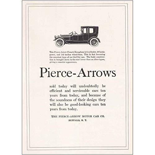 RelicPaper 1918 Pierce-Arrows French Brougham: Buffalo, Pierce-Arrow Motor Car Print Ad