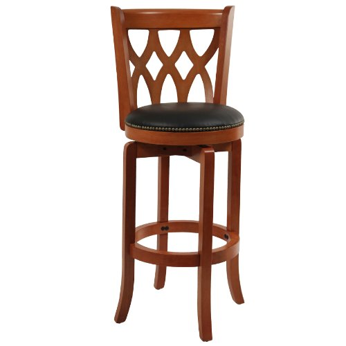 Boraam 40229 Cathedral Bar Height Swivel Stool, 29-Inch, Light (Traditional Cherry Bar)