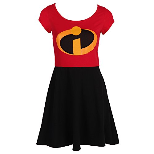 I Am Elastigirl The Incredibles Disney Film Mighty Fine Jrs Costume Skater Dress (Pixar Halloween Film)