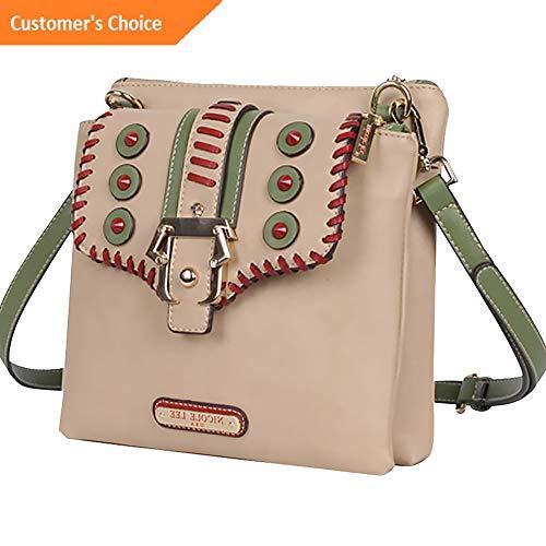 Amazon.com: Sandover Nicole Lee Eleri Buckle Crossbody 2 Colors Cross-Body Bag NEW | Model LGGG - 1880 |