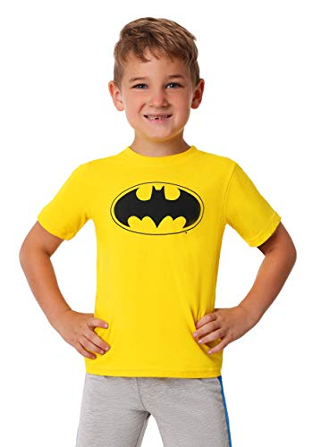 Warner Brothers Boys' Toddler Batman 3 Piece Short Set, Yellow -