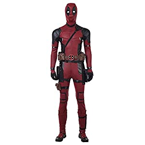 DP Movie Cosplay Costume Wade Costume Mask Set Deluxe Leather Jumpsuit Outfit Bodysuits Halloween Costumes