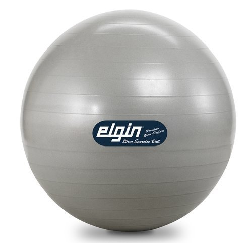 Elgin Commercial Duty Burst Resist Exercise Ball 85cm Silver