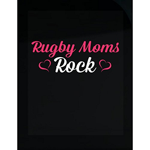 (Inked Creatively Rugby Moms Rock Sticker)