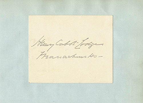Henry Cabot Lodge Sr. - Signature