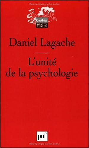 Livres L'unité de la psychologie : Psychologie expérimentale et psychologie clinique epub pdf