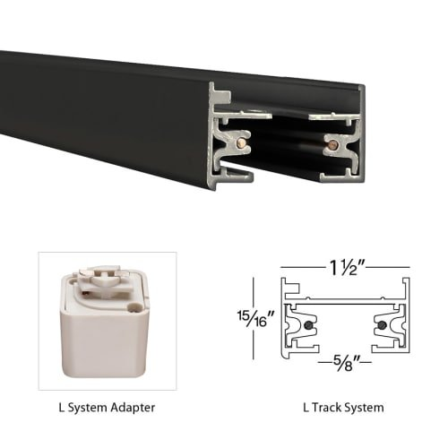 Monopoint Canopy Adapter Track Type: Lightolier Series / Dark Bronze