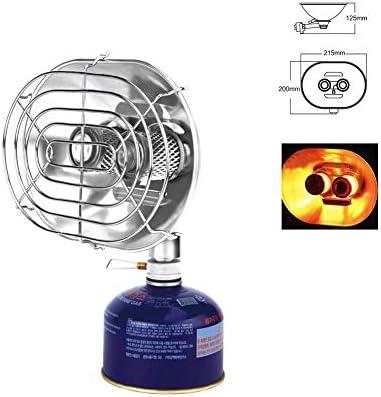 AUTOECHO Calentador de Gas Doble Cabeza Portátil Calentador Calentador para Acampar Al Aire Libre Quemadores Dobles Horno de Calentamiento Estufa ...