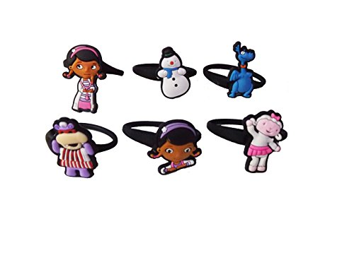 Brontosaurus Costumes (AVIRGO 6 pcs Releasable Ponytail Holder Elastic Rubber Stretchable No-slip Hair Tie Set # 112 - 6)