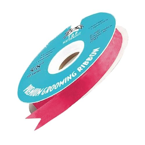 Top Performance Satin Acetate Ribbon for Dog Grooming, 100 Yards, Shocking Pink