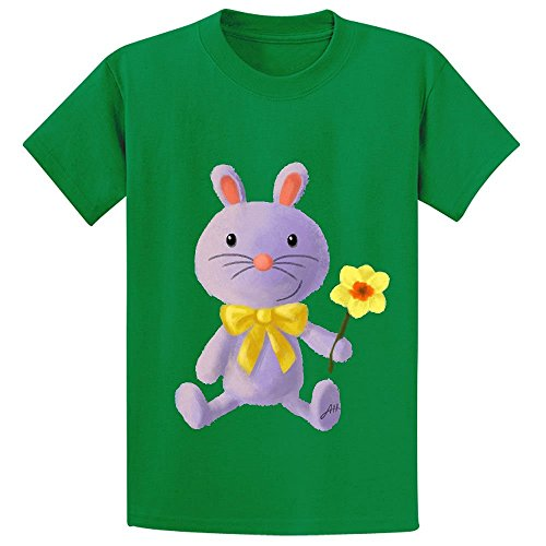 Snowl Purple Bunny Girls Crew Neck Print Tees Green (A Chefs Life Season 1 compare prices)