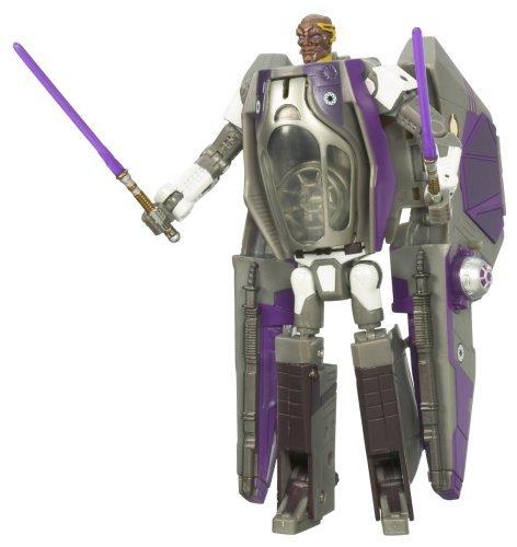 Mace Windu Starfighter - Hasbro Star Wars Transformers Mace Windu & Episode 3 Jedi Starfighter