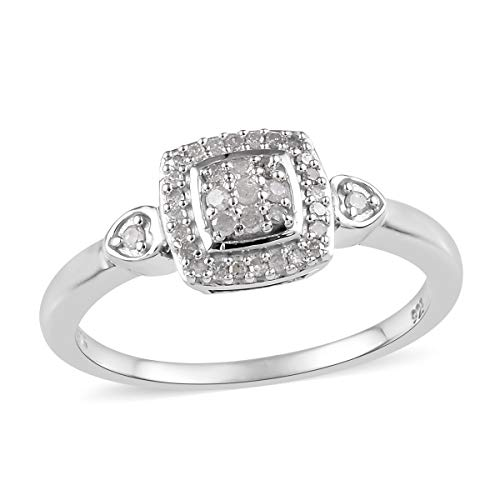 Round Diamond Cluster Ring 925 Sterling Silver Platinum Plated Jewelry for Women Size 7 Ct - Diamond Cluster Platinum Ring