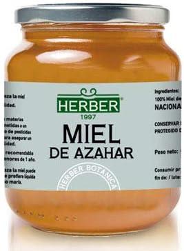 100% MIEL DE AZAHAR HERBER, 900 g - Origen: ESPAÑA: Amazon.es: Alimentación y bebidas