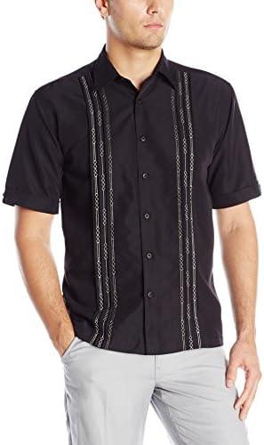[Patrocinado] Cubavera, Playera de lana con pliegues con detalle geométricos de manga corta.