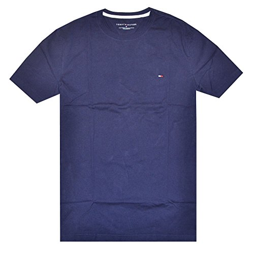 Tommy Hilfiger Mens Classic Fit Crew Neck T-Shirt (XX-Large, Navy)