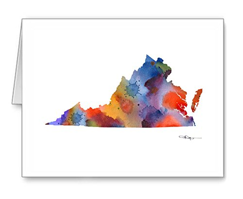 Virginia - Set of 10 Note Cards With Envelopes