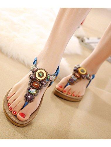 Sandales Femmes Style2 Flops Flip Matchlife bleu gZqwBW