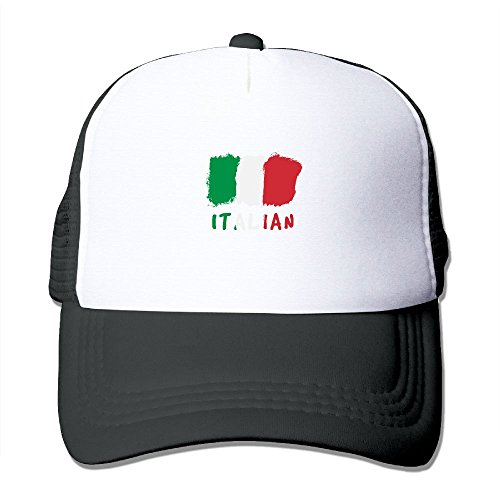 ZXM Caps Italian Flag Summer Printed Adjustable Stylish Personalized Casual Mesh Hats