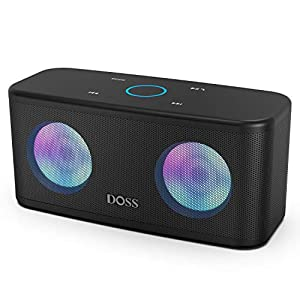 Bluetooth Speakers, DOSS SoundBox Plus Portable Wireless Bluetooth Speaker with 16W HD Sound and Deep Bass, Wireless…