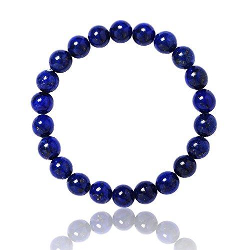 Lapis Lazuli,8mm Lapis Lazuli Bracelet Blue Round Crystal -