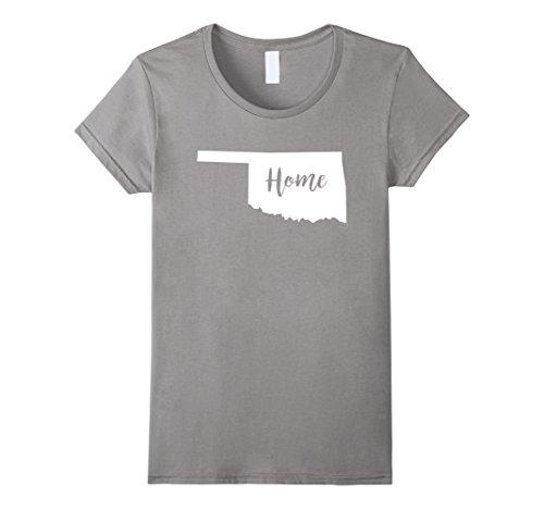 Oklahoma Tee - Women's Oklahoma Home State Pride T-Shirt Medium Slate