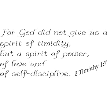 2 Timothy 17 Vinyl Wall Art For God Did Not Give Us