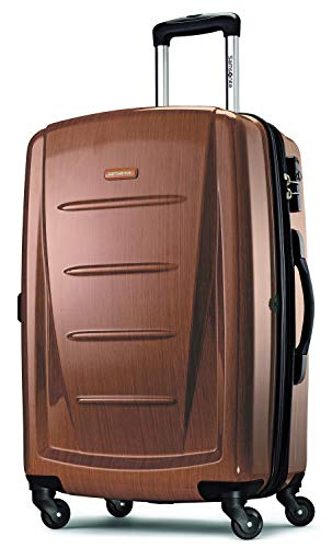 Samsonite Winfield 2 Hardside Expandable Luggage with Spinner Wheels, Rose Gold, Checked-Large 28-Inch