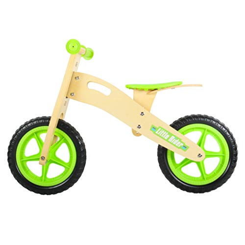 HAPTOO Wooden Balance Bike, No Pedal Kid Glide Bike for 2 3 4 5 Year Old 12 inch Adjustable Seat Lightweight Walking Training Bicycle for Girl Boy Toddler [Vary Style Option] (Wooden)