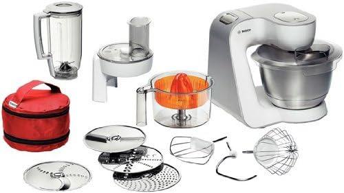 Bosch MUM54W41 - Robot de cocina, 900 W, capacidad de 1,25 l, color blanco y gris: Amazon.es: Hogar