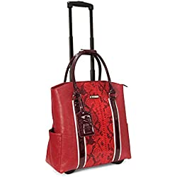 Cabrelli Patent Taping 15 Inch Laptop Rollerbrief, Red, One Size