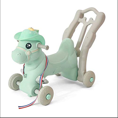 XUELIANG Children's Rocking Horse Sliding Trojan with Music Large Dual-use Baby Toys 1-2-3 Years Old Baby