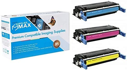 SuppliesMAX Compatible Replacement for HP Color Laserjet CP4005//CP4005DN//CP4005N Toner Cartridge Combo Pack C//M//Y CB40CMY NO. 642A