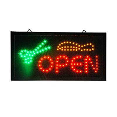 Beauty Salon LED Animated Open Scissor Sign Barber Store Neon Business Hair Shop Light On/Off Switch