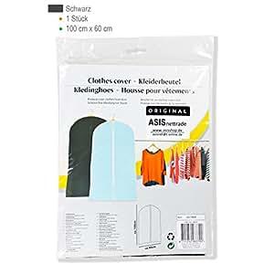 ––Portatrajes 100x 60cm negro–30Unidades–Nuevo–con cremallera larga–Material Resistente y kratzfestes