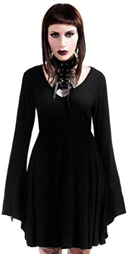 DRESS Kleid schwarz Schwarz LACE Killstar UP ME SPYDA wfxgqfRdX