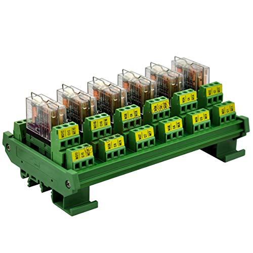 Modules 5 24v Din - ELECTRONICS-SALON DIN Rail Mount AC/DC 24V Control 6 DPDT 5Amp Pluggable Power Relay Interface Module.