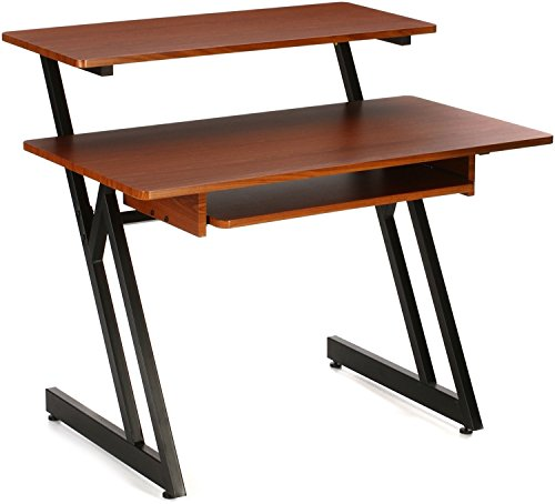 On Stage WS7500 Wood Workstation - Rosewood, Black Steel (Rosewood Set Table)