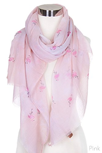 ScarvesMe Fashion Pink Glitter Flamingo Tie Dyed Print Oblong Scarf (Pink) by ScarvesMe