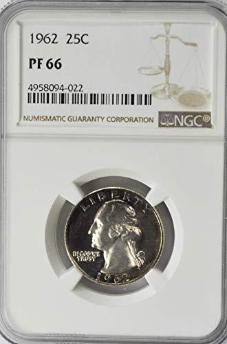1962 P Washington Proof Quarter Dollar AZI18 Dark Toning AZI18 25c PF66 NGC ()
