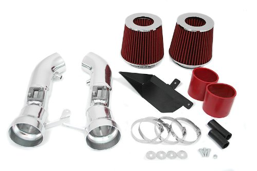R&L Racing Heat Shield Red Cold Air Intake Induction + Filter for Nissan 09-15 370Z 3.7L V6