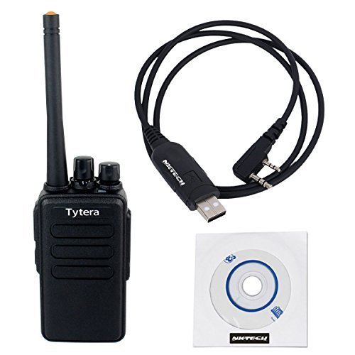 2 Pack NKTECH USB Programming Cable & TYT Tytera TC-3000B 4W 16CH UHF 400-520MHz Multi-functional Side-key Scan VOX Two Way Radio Walkie Talkie by NKTECH