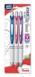 Pentel EnerGel Pearl Deluxe RTX Retractable Liquid Gel Pen, 0.7mm, (BL77WBP3M1)