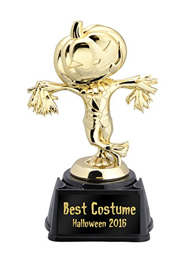Pumpkin Scarecrow Halloween Trophy—Choose from 5 Plates