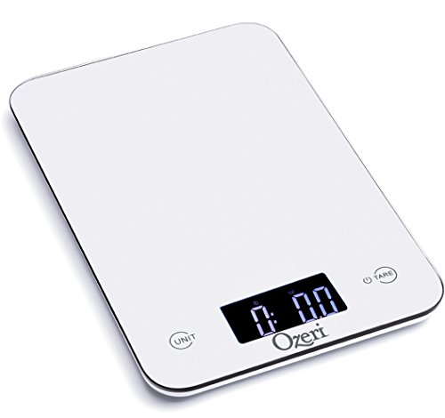 Ozeri Touch Professional Digital Kitchen Scale (12 lb Edition), Tempered Glass