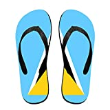 Flag Of Saint Lucia Comfortable Flip Flops For Children Adults Men And Women Beach Sandals Pool Party Slippers